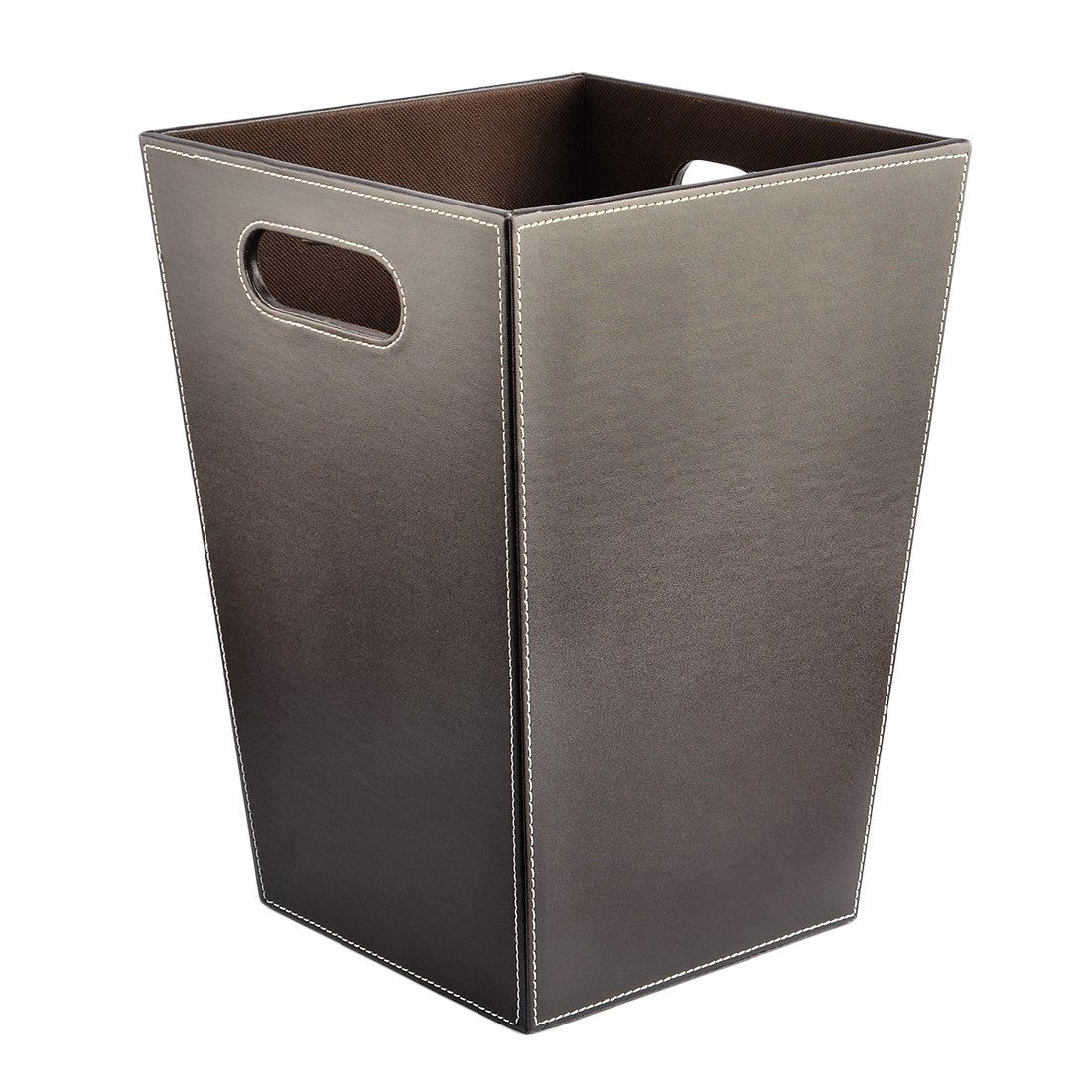 Incroyable Get Quotations · Wastebasket, Yamix Square Shape PU Wastebasket Trash Can Waste  Bin Waste Can Silver Waste Paper