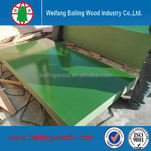 factory sale high quality good price green plastic film faced plywood/pp film faced plywood