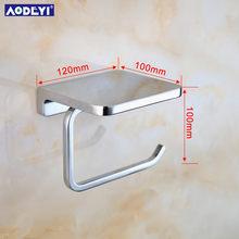 Держатель для туалетной бумаги AODEYI, латунный держатель для салфеток, держатель для туалетной бумаги для ванной комнаты, полка для телефона, ...(Китай)