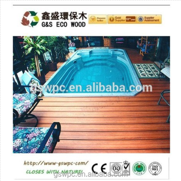 wood plastic composite decking wpc of waterproof wpc eco wood