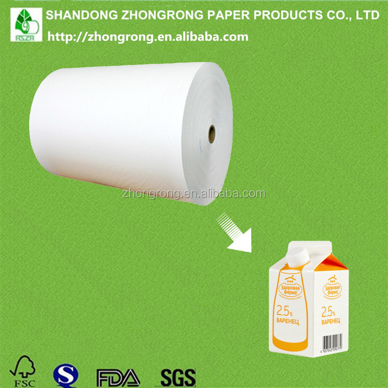PE coated paper for soy milk gable top carton