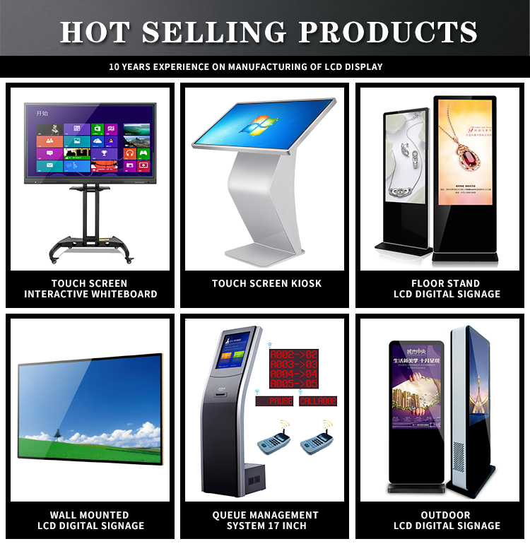High quality smart LCD display boards advertising digital poster