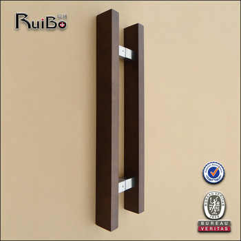 H Shape Wooden Door Handle For Glass Door - Buy H Shape Wooden Door ...