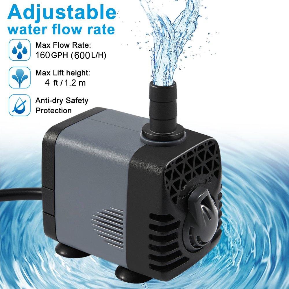 Fish & Aquariums Pumps (water) Submersible Water Pump With 5.9ft Power Cord 2 Nozzles For Aquarium Fish Tank