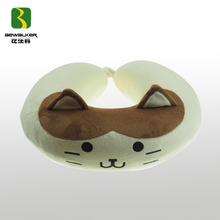 Lovely Cat Shape Animal Pillow With Memory Foam