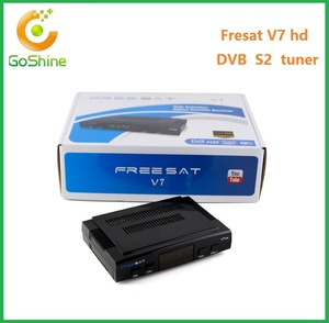 Goshine Newest Free IPTV PowerVu via USB Wifi with twin Tuner Satellite HD DVB-S2/T2 Freesat V7 Combo Receiver TV Box