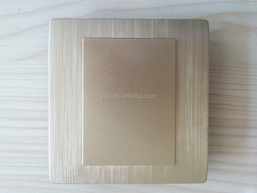 PC gold painting wall switch blank plate 3*3 wall outlet plate 3*6