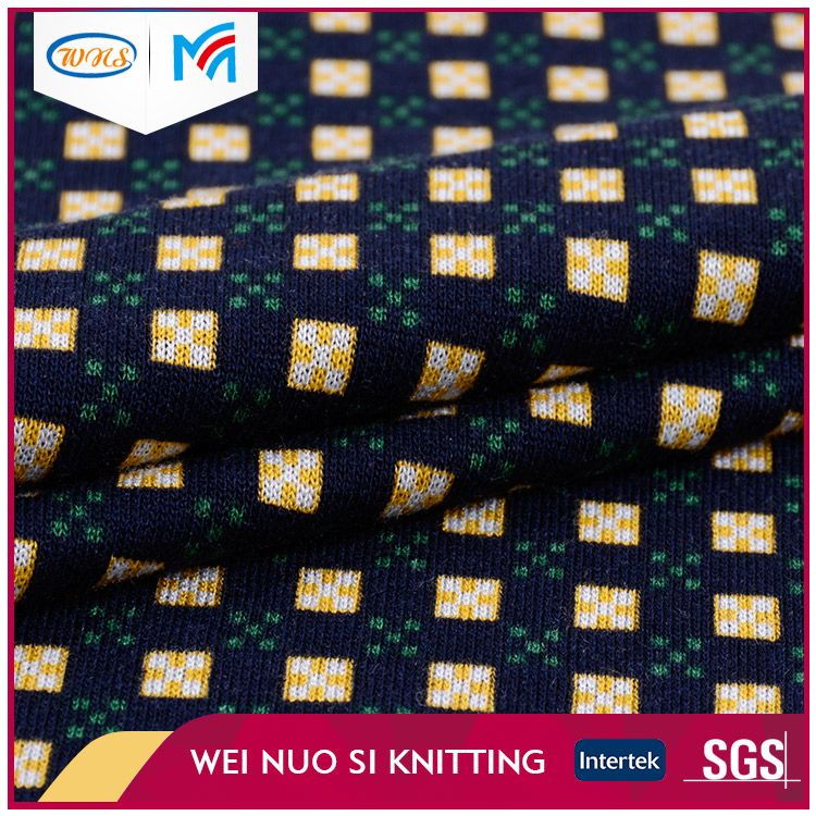 Multi Color yarn dyeing spandex dot ponte knit textile fabric