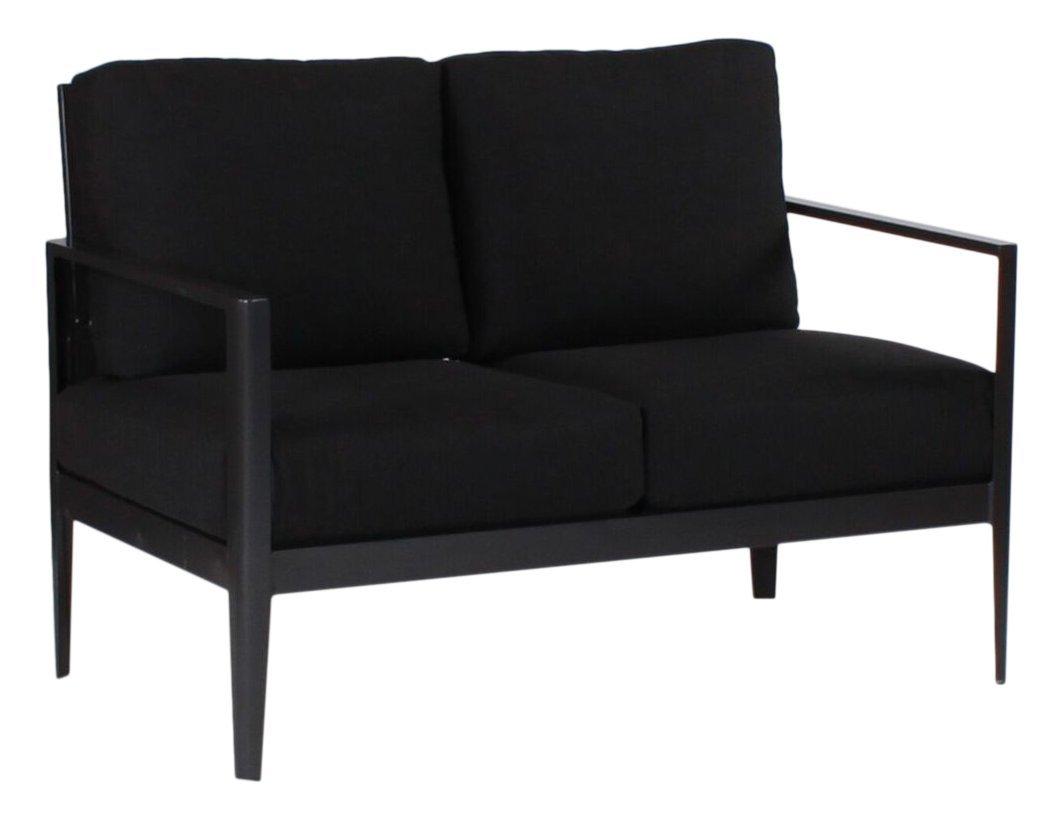 Serene Deep Seating Love Seat, VOLT SULFUR-Textured Black Frame