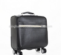 Good quality trolley bag men's business travel bag leather luggage with wheels