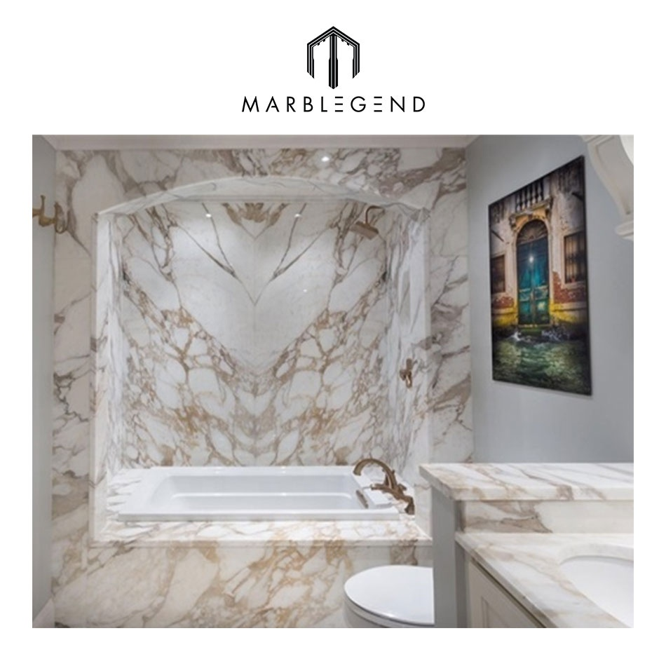Italian modern and luxury calacatta gold marble for bathroom design