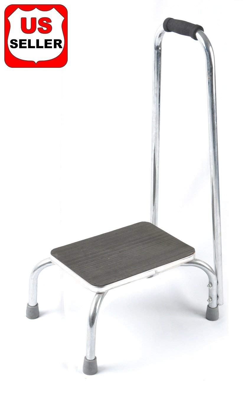 Buy Walterdrake Silver Step Stool With Handle In Cheap