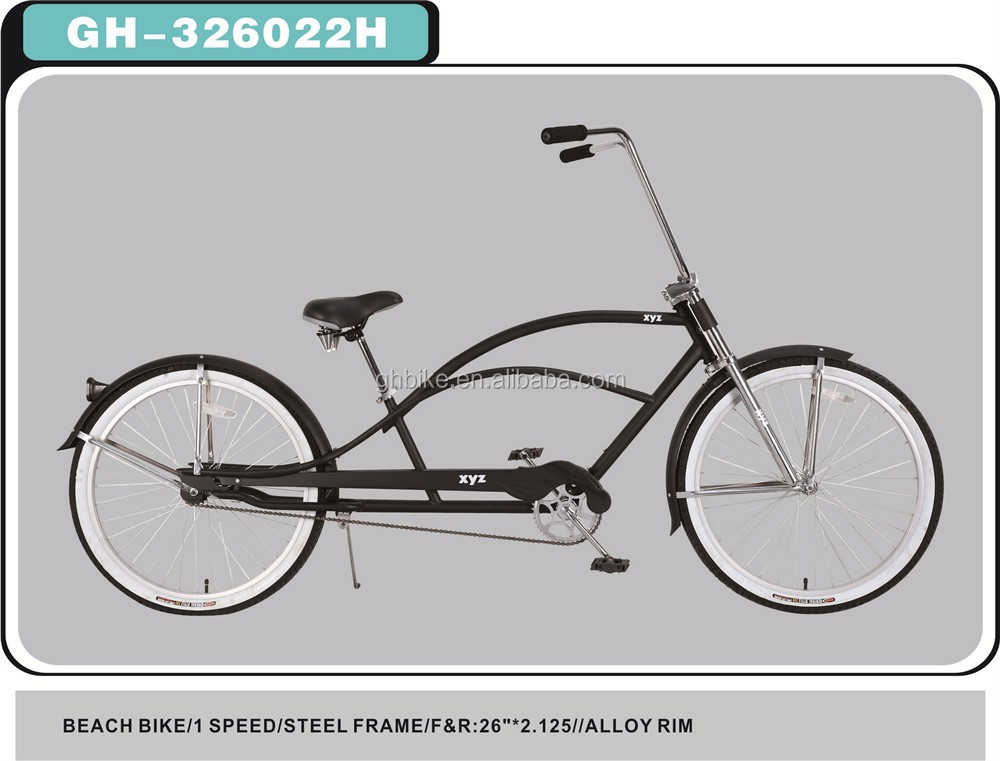 26 Inch Long Frame Beach Cruiser Bike Stretch Bike - Buy Long Frame ...