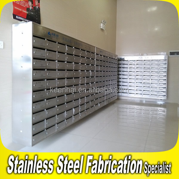 Great Commercial Stainless Steel Locking Office Mailboxes Newspaper Holder On Wall