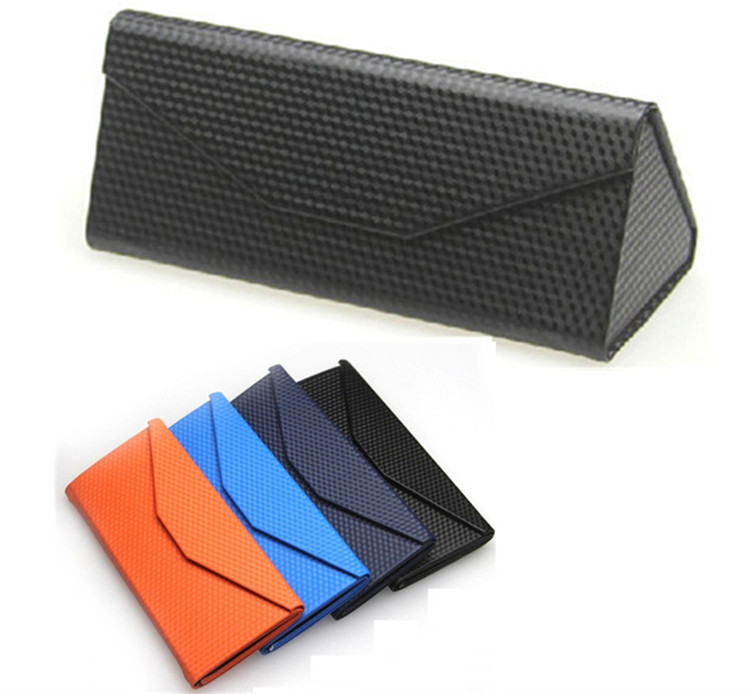 90e5205443c Buy New Metal Glasses Case PU Leather Sunglasses Box Folding Triangle  Lightweight Portable Sun Glasses Case Black Sky Blue Orange in Cheap Price  on Alibaba. ...