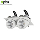5 years warranty square double triple heads gimbal LED Down Light 2*30W