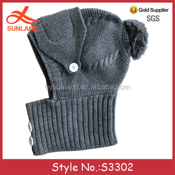 8caf258ae7b S3302 new 2018 knit ski face mask beanie hats crochet knitted winter masks