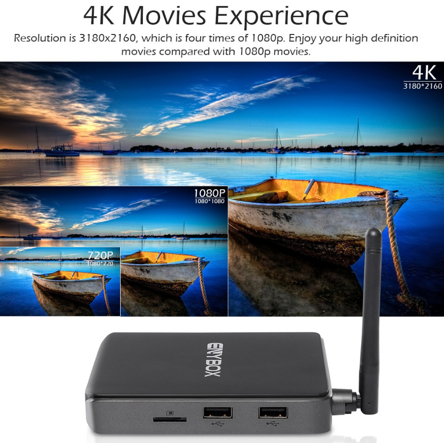 2017 Android 6.0 OTT TV Box ENYBOX X1 Amlogic S905X 4K 1G/8G Kodi 16.1 Ott TV Box