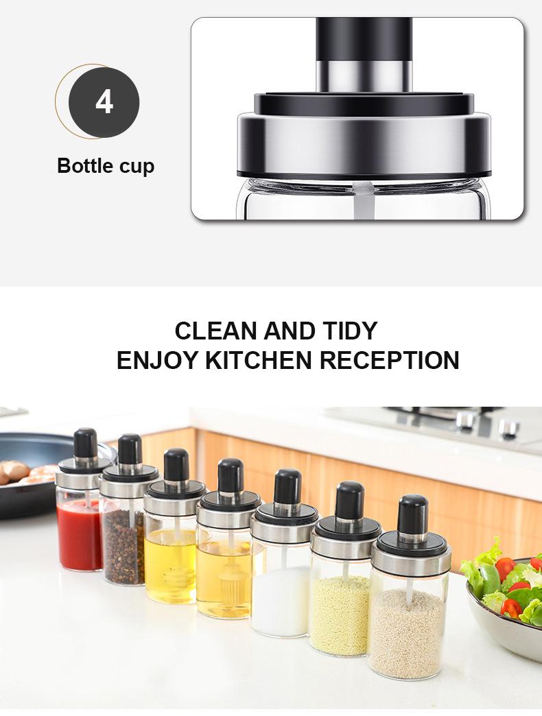 250ml 350ml Handmade Leak-proof Screw Top Borosilicate Glass Spice Jar Glass Honey Jar Oil Bottle