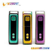 China shenzhen good product Vzone vape mods 220 watt Vzone Graffiti 220W box vape e cig starter kit ecig vaporizer mac mod