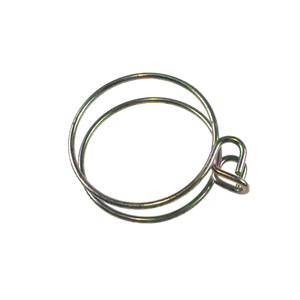 Good fastening zinc plating sealing double wire hose clamp, adjustable tube clamps for fire hose