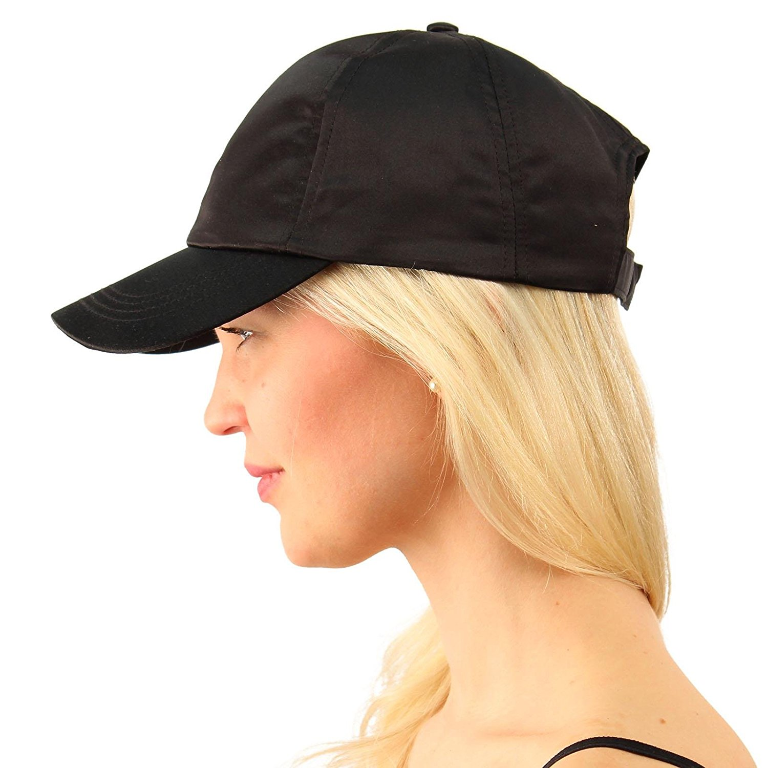 16f78a22 Get Quotations · SK Hat shop Everyday Satin Light Plain Blank Baseball Sun  Visor Solid Ball Cap Dad Hat