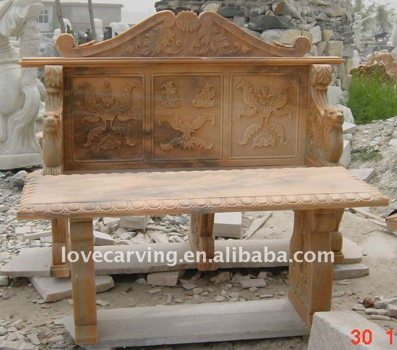 Chinese style garden bench