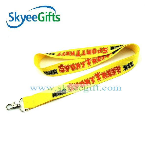 Custom fashion string designs souvenirs and gifts wholesale woven polyester lanyard with metal clip