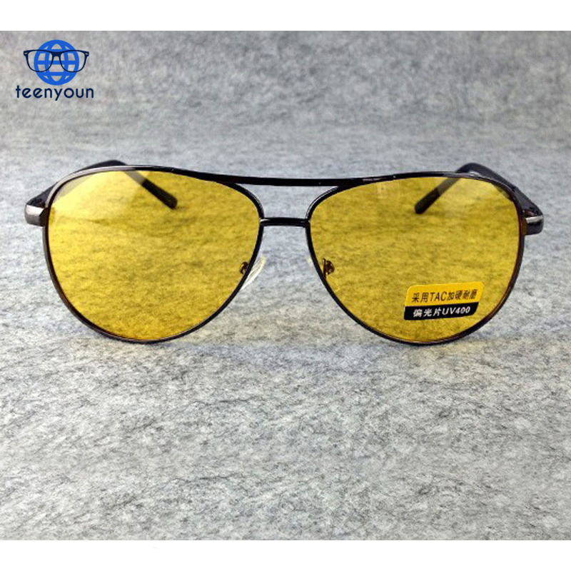 Yellow Polarized Aviator Sunglasses Men Women Night Vision Goggles Driving Glasses Driver Aviation Polaroid Sun Glasses UV400