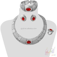 jewel one jewellery/rhodium plated gold jewelry set/ turkish silver jewelry set