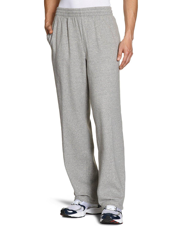 d3b84cd2d87930 Get Quotations · Nike Grey Open Bottom Swoosh Fleece Sweatpants