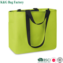 600D Polyester Shopping Bag Eco Hand Tote Bag with Short and Long Handle
