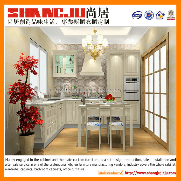 pvc off white style kitchen cabinet
