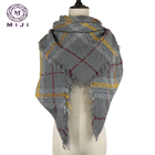 Cashmere feeling 100% acrylic turkish square blanket tartan scarf Wholesale