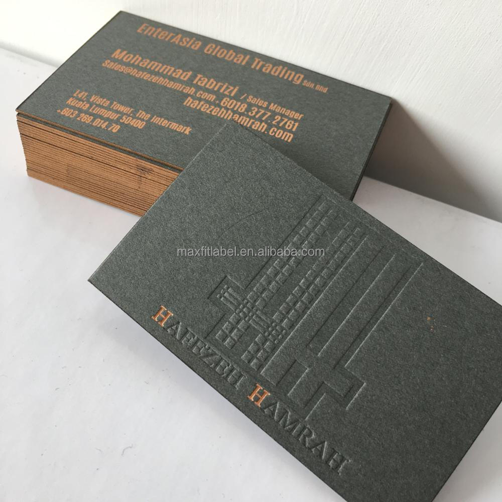 Customized Gold Foil Embossed Business Cards With Colorful Edges ...