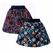 2016 New Spring Summer Skirt saia Womens tutu midi Skirts Lady Elastic Waist Knitting Crochet Embroidery Puff Skirts Womens