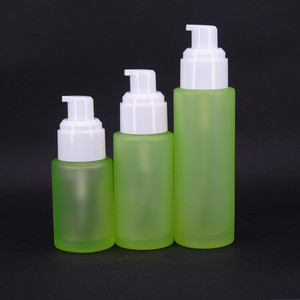 glass spray airless pump glass cosmetic bottle