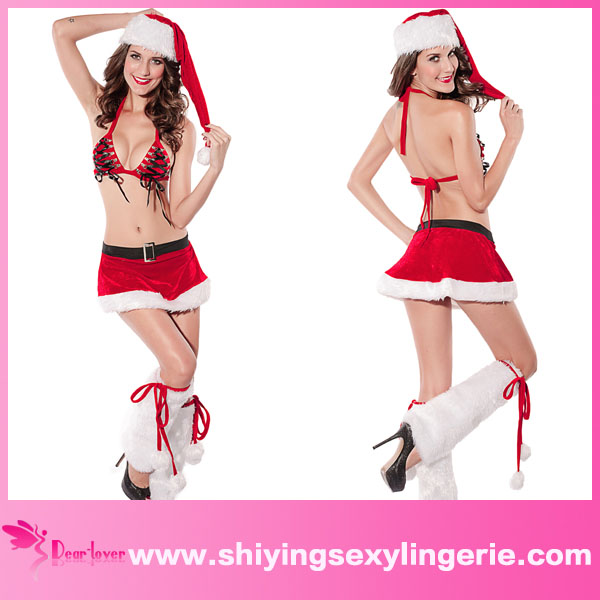 Cheap Wholesale 4 Piece Christmas Santa Stripper Skirt Set Gothic ...