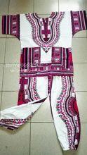 2016 Nova vestidos Dashiki africano 100% algodão T-shirt e calças de terno para Adulto tradicional africano roupas bazin riche D10