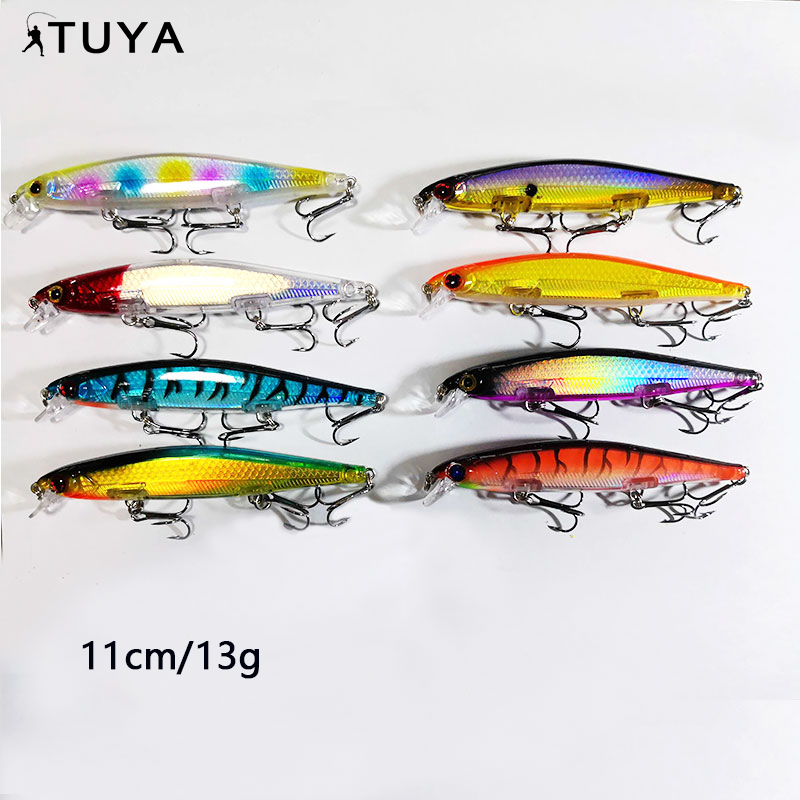 11 cm 13 g carbon steel hooks minnow ABS  fishing bait