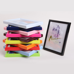 Eco-friendly BD style all sized colorful stand and hanging plasitc PVC photo frame
