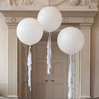 36 inch huge ball for wedding birthday engaged party decoration round shaped white color big flat balloon