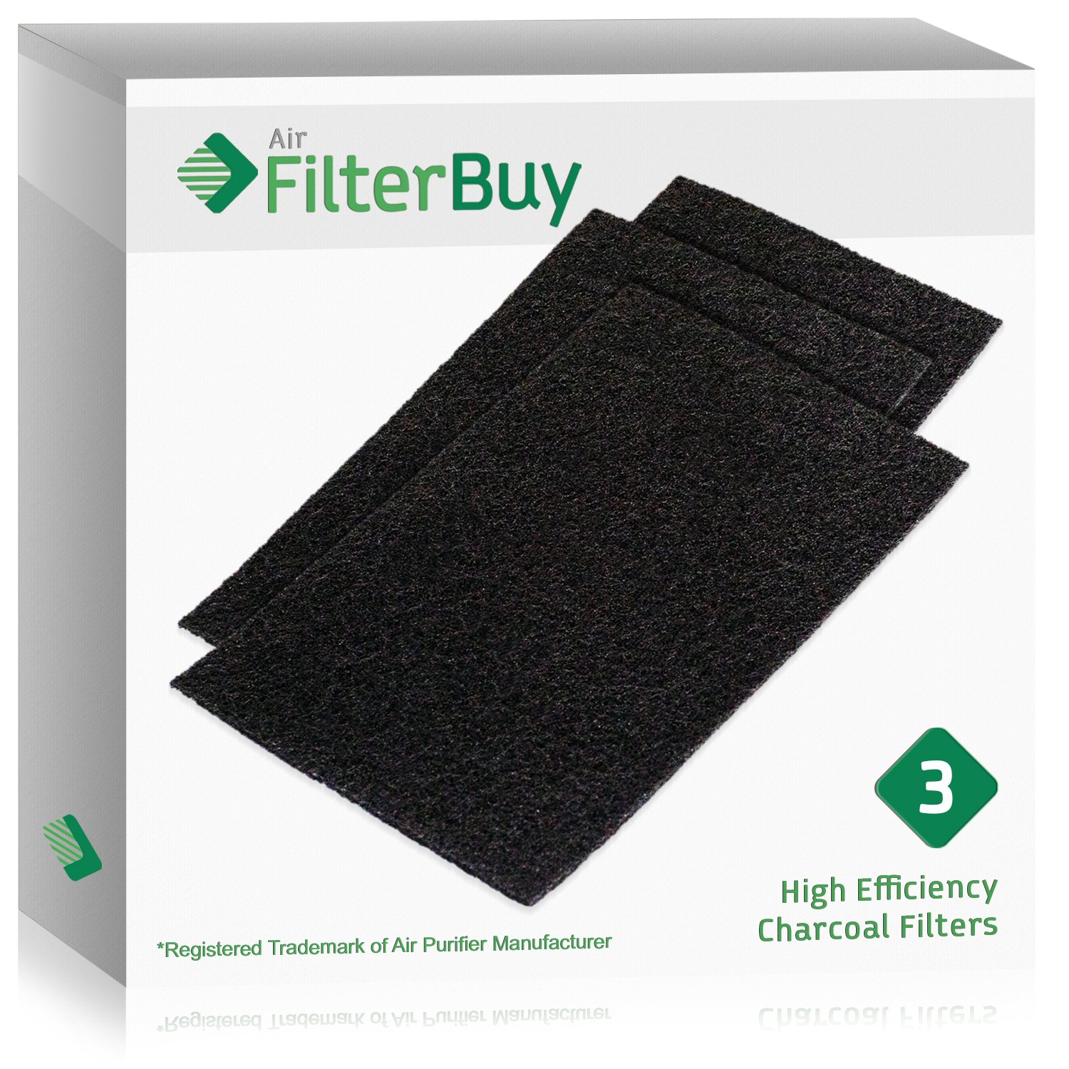 3 - FilterBuy Holmes HAPF60 (HPF600) Replacement Carbon Pre Filters, Filter C. Designed by FilterBuy to fit Holmes Harmony Air Purifiers.