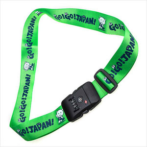 Personalized customized baggage luggage belt travel luggage strap with tsa lock