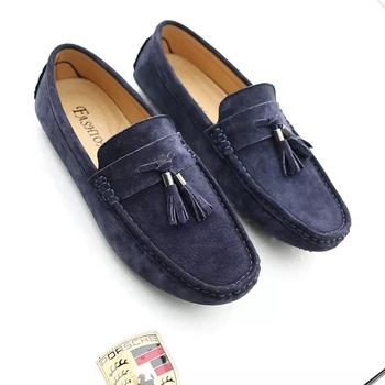 2018 zapatos de hombre holgazán zapatos casuales de cuero zapatos de gamuza  dricer zapatos para Hombre 8ec1a4770b9