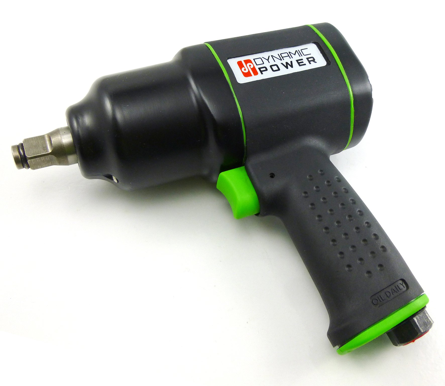 Dynamic Power 1/2 in. Air Impact Wrench Lightweight Composite Pneumatic 600ft/lb Torque