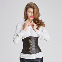 Wonder Beauty lack Red Faux Leather Corsets Steampunk Corset Steel Boned Lace up Back Sexy Gothic Bustier Overbust Corselet -B