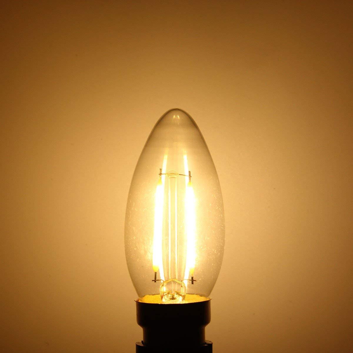 Lights & Lighting - Dimmable B22 C35 2w Retro Cob Filament 200lm Vintage Edison Light Bulb Ac220v - B22 Light Bulb Led Bulbs Watt Candelabra Equivalent 120v Chandelier - 100 - 1PCs