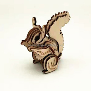 Wild Animals Toy Series 3D Wooden Jigsaw Puzzle