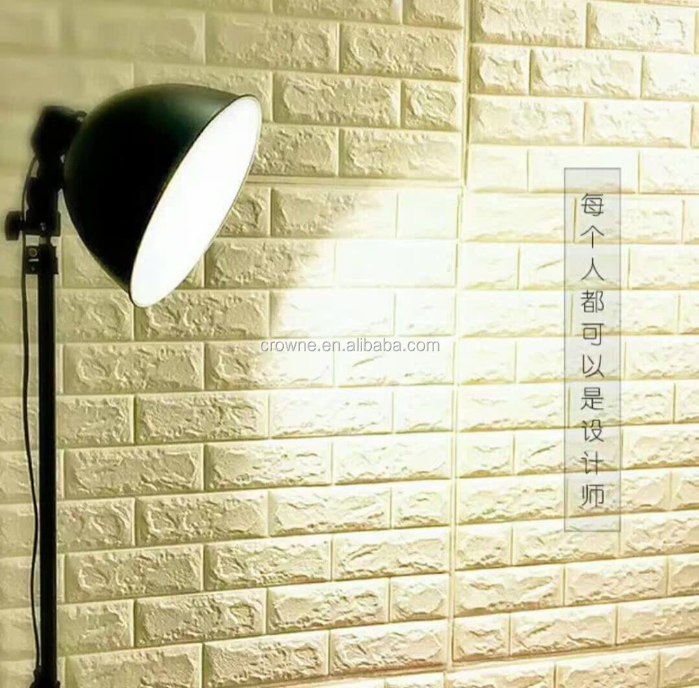 Realistic 3D Effect Faux Brick Wall Textured Self-adhesive Viny Wallpaper wallcovering self adhesive silk wallpaper